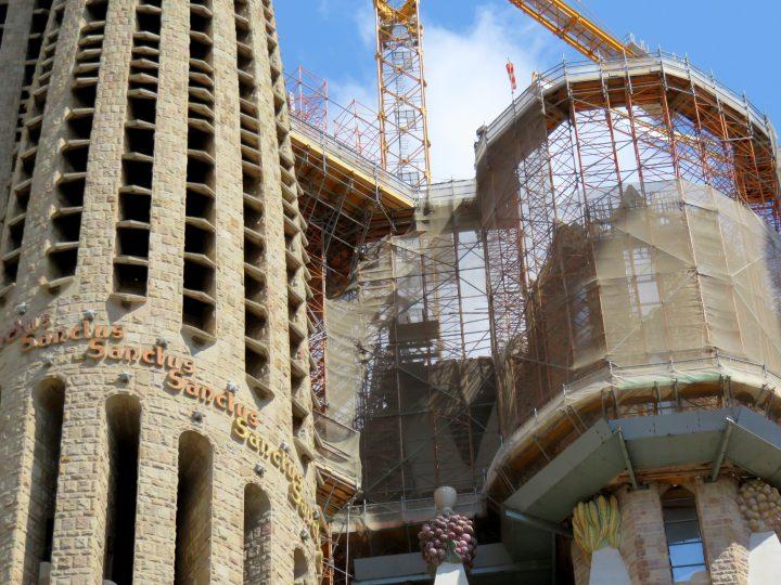 Barcelona Sagrada Familia construction is on going since 1882