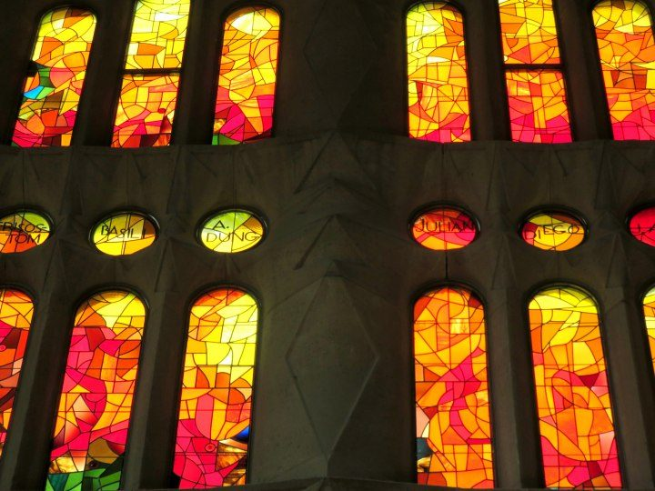 Barcelona Sagrada Familia stained glass