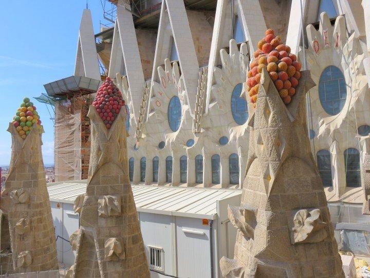Barcelona - Sagrada Familia trencadis mosaic style was used often by Antoni Gaudi