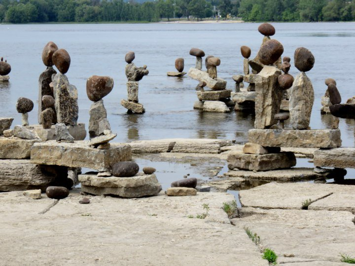 Rock art on display at Ottawa River