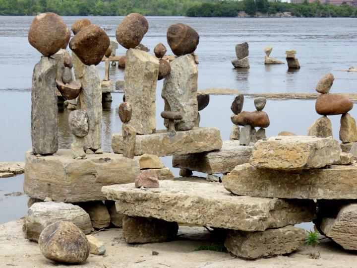 Rock Art Remic Rapids Ottawa River - Balanced Art World International