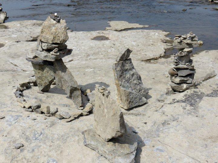 Rock Art Remic Rapids Ottawa River - annual balanced rock festival and exhibit