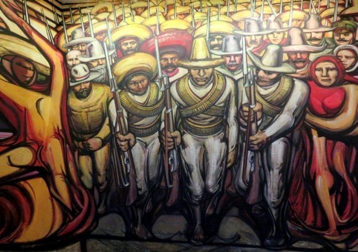 National History Museum at Chapultepec Park in Mexico City - the mural Alegoria de la Revolucion Mexicana - Eduardo Solares Gutierrez