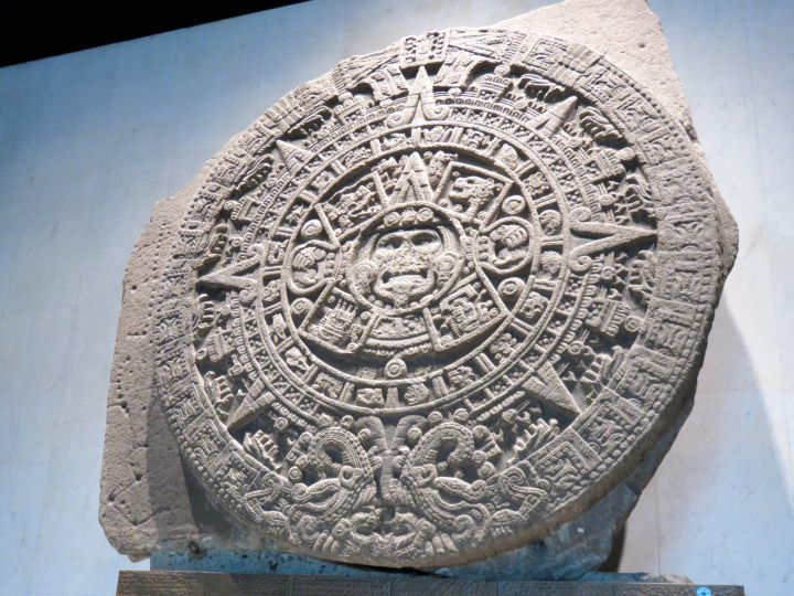 Solo Trip to Mexico City - visit the Anthropology Museum located in Chapultepec Park - Piedra del Sol - Sunstone - Aztec calendar