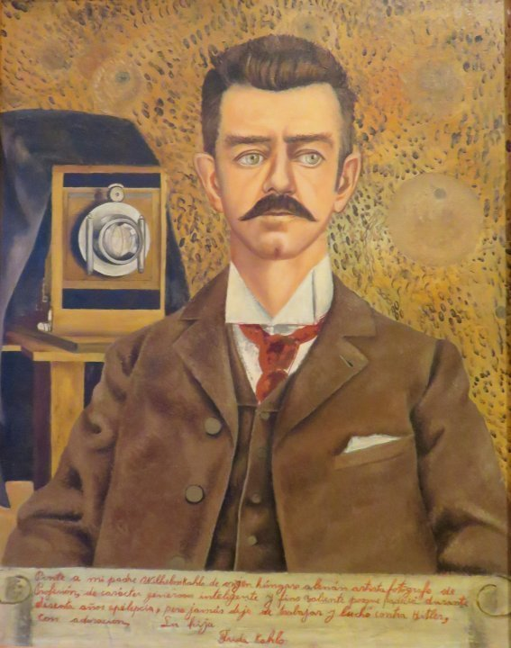 Frida Kahlo Museum - Coyoacan Mexico City - Portrait of My Father Guillermo Kahlo 1952