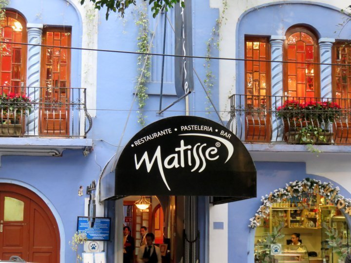 La Condesa Mexico City Matisse Pasteleria - enjoy coffee and pastries on your walk around La Condesa neighborhood