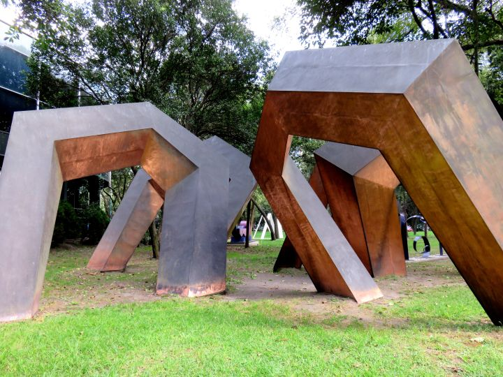 Solo Trip to Mexico City - Modern Art Museum in Chapultepec Park features an outdoor sculpture garden - Ovi by sculptor Hersua