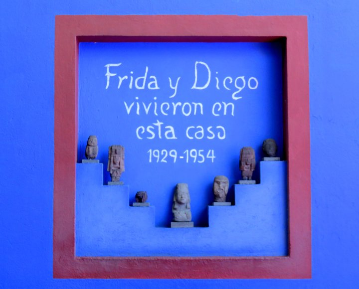 Solo travel Mexico City - Frida Kahlo Museum in Coyoacan neighborhood where she grew up, and later lived with Diego Rivera