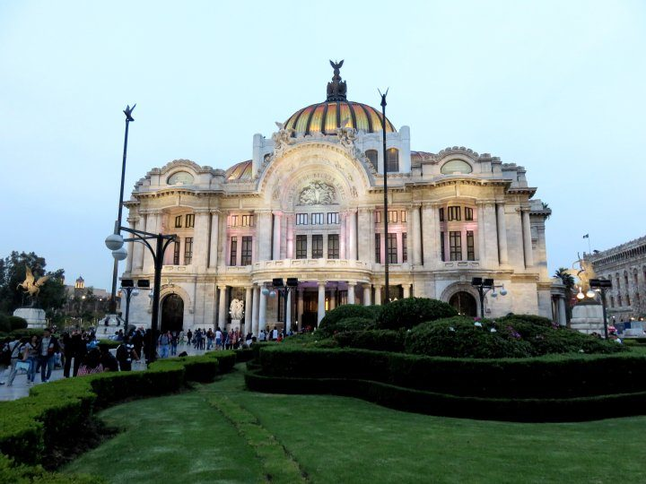 Mexico City Palacio de Bellas Artes is a beautiful building - a must visit during your week in Mexico