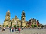 Solo trip to Mexico City - visit the Zocalo plaza in the Centro Historico - Metropolitan Cathedral
