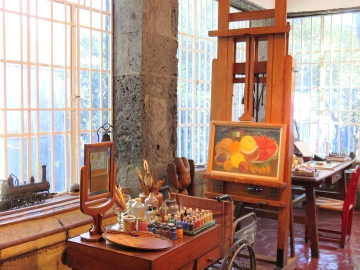 A highlight of my solo trip to Mexico City was the Frida Kahlo Museum - studios of Frida Kahlo and Diego Rivera