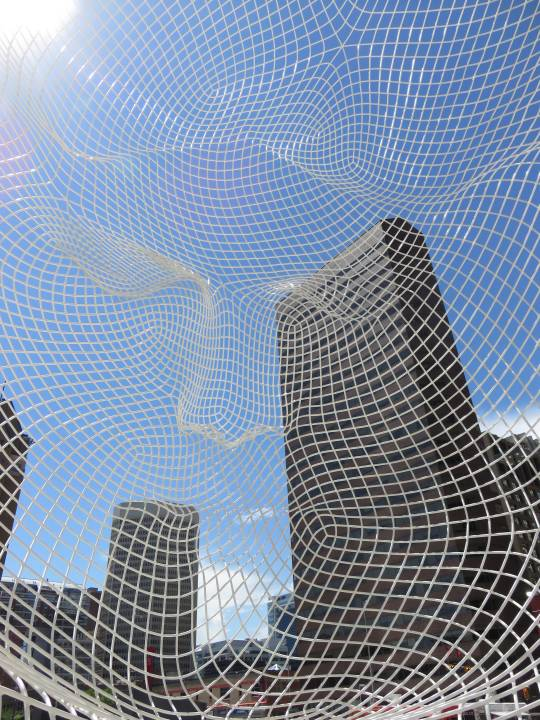 2014 Solo Travel Highlights - downtown Calgary - Wonderland sculpture by Spanish artist Jaume Plensa