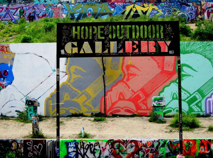 Graffiti Park Austin Texas - Baylor and 11th Street in central ATX - ever changing outdoor gallery