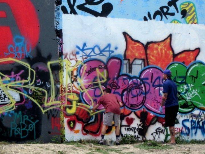 Graffiti wall Austin Texas - new work in progress