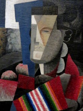 Portrait of Martin Luis Guzman - 1915 painting by Diego Rivera - cubist style