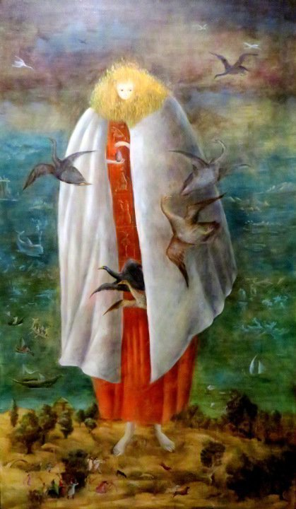 Leonora Carrington's painting The Giantess 1947 at Museo de Bellas Artes in Mexico City