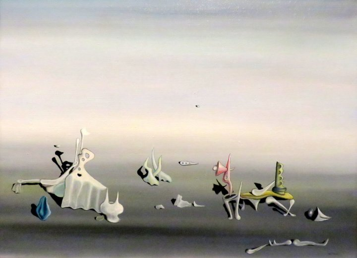 Mexico City solo trip - painting by surrealist painter Yves Tanguy in 1935