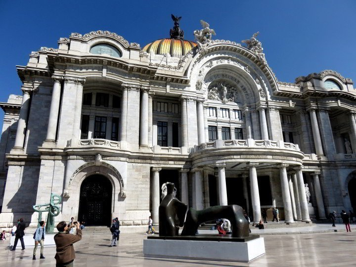 Mexico City Solo Travel - recommend Palacio de Bellas Artes - the building is magnificent even if you do not want to visit the art museum