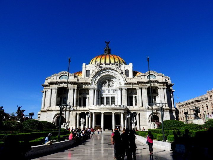 Mexico City solo trip to Palacio de Bellas Artes - home to the Museo de Bellas Artes - extraordinary architecture and art work - a must visit in Mexico City!