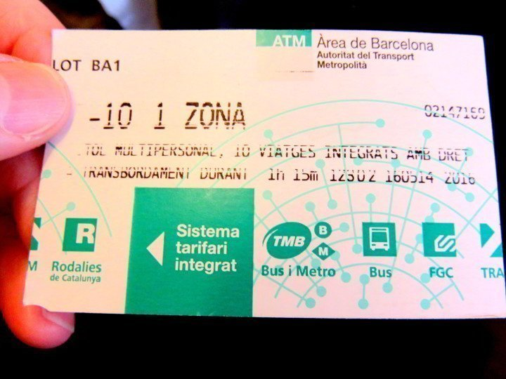 Getting Around in Barcelona try the metro - 10 trip pass is a good bargain for getting around Barccelona
