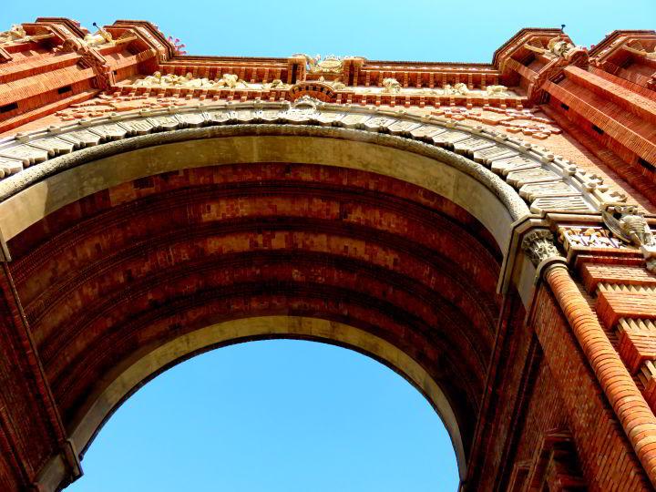 Arch of the Arc de Triomf in Barcelona Catalonia Spain