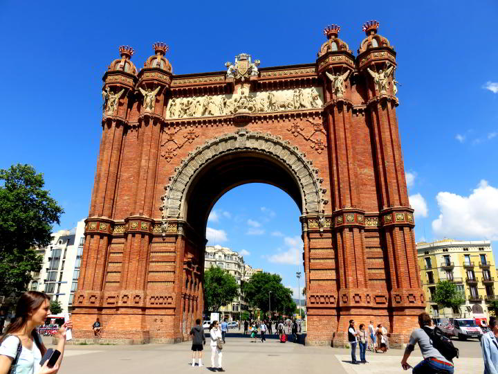 Architecture in Barcelona - Arc de Triomf archway built to provide the entrance to 1888 World Fair