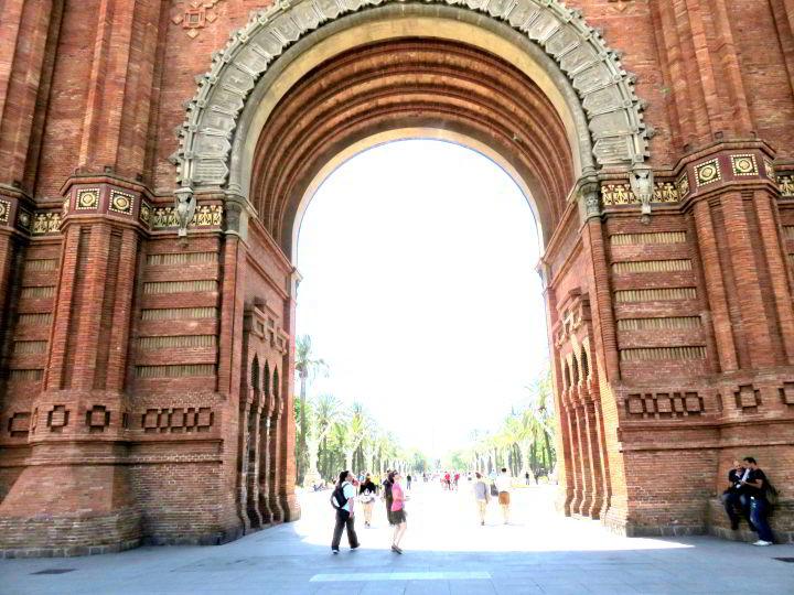 Arc de Triomf Barcelona - constructed as the entrance to the 1888 Barcelona World Fair