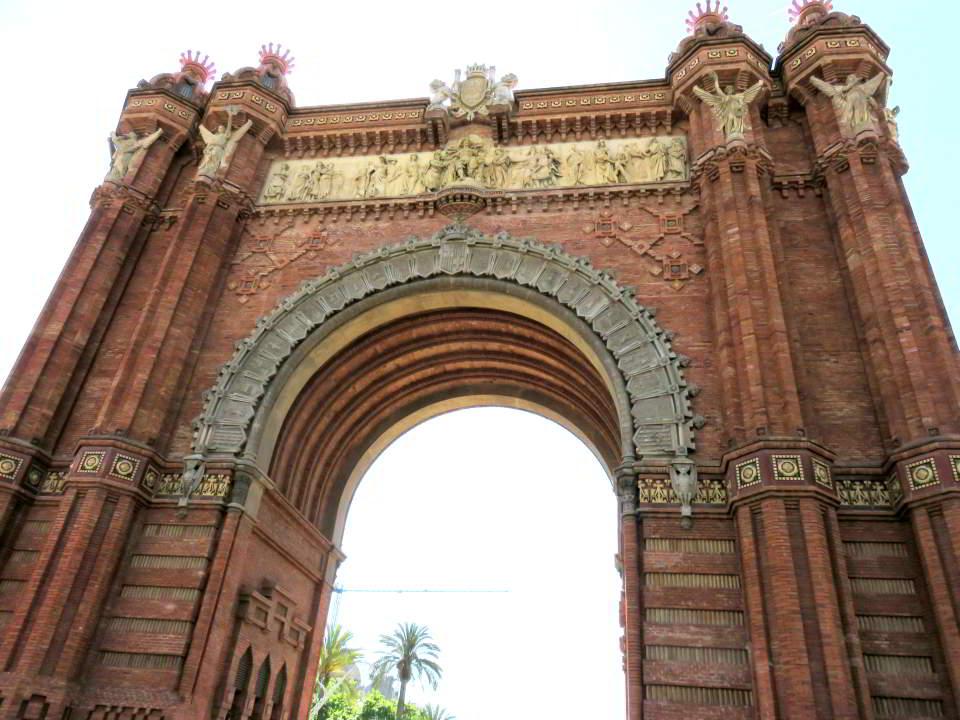 Arc de Triomf Barcelona under the mid-day sun