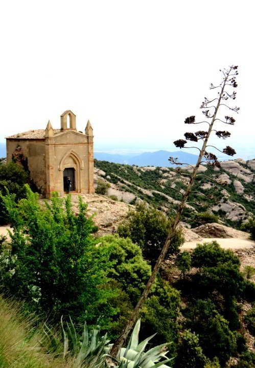 Montserrat day trip from Barcelona - enjoy hiking the trails of Montserrat for beautiful views of Catalonia Spain
