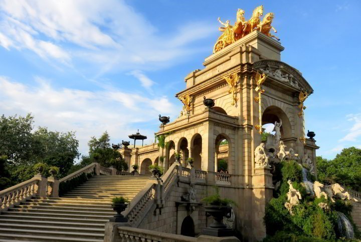 Barcelona Cascada Monumental at Park Ciutadella - La Ribera district Barcelona Catalonia Spain