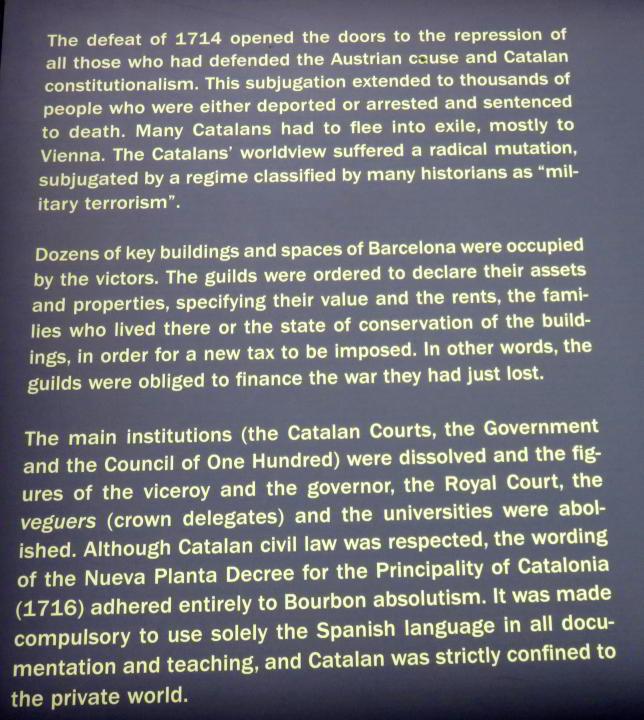 Centre Cultural El Born – 1714 destruction of La Ribera