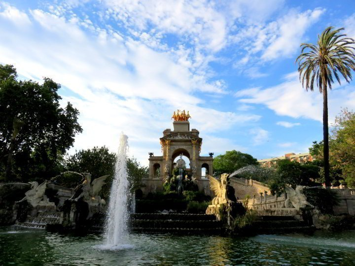 Barcelona Park Ciutadella fountain Cascada Monumental - a feature that is not to be missed while visiting Barcelona