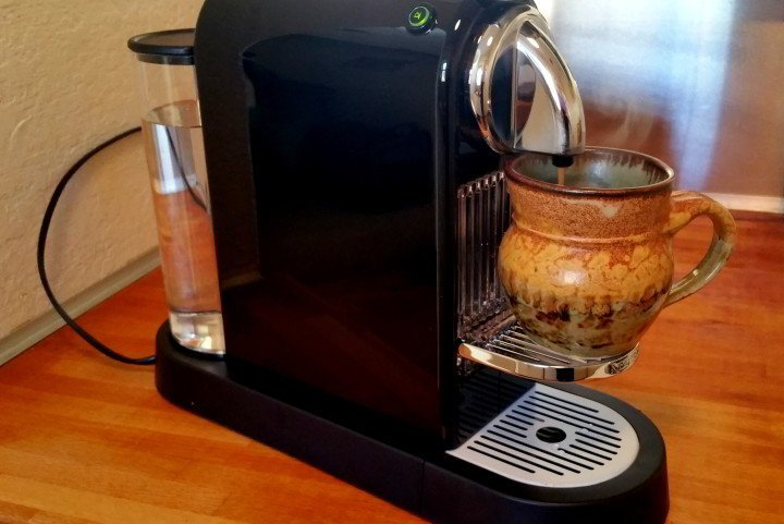 Nomadic lifestyle in style with Nespresso coffee maker - perfect cup of espresso every time