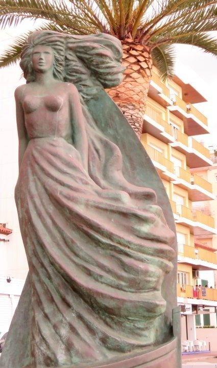 Public art in Lloret de Mar - sculpture along the beach