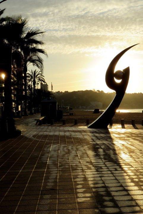 Public art in Lloret de Mar - Scupture L'Esguard by Rosa Serra is located by the beach - Costa Brava Catalonia