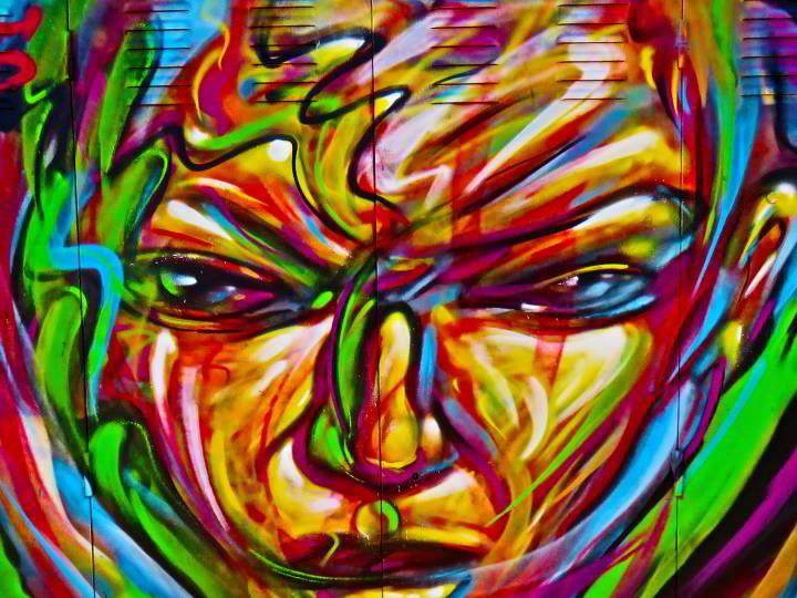 Street art in Lloret de Mar Costa Brava Catalonia