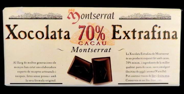 Edible travel souvenirs and mementos - dark chocolate from Montserrat