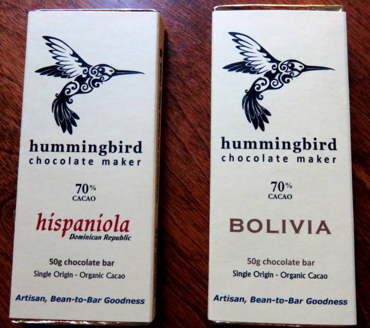 Travel souvenirs - edible mementos make great gift items for friends and family - Hummingbird Chocolate Makers - hand-crafted single origin organic cacao