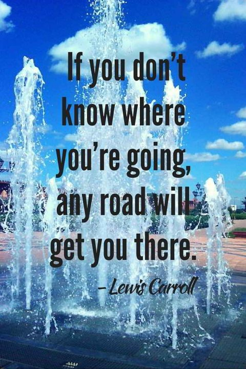 Inspirational travel quotes: If you don't know where you are going, any road will take you there - Lewis Carroll
