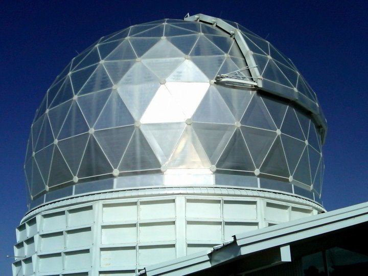 Dome of the Hobby-Eberly telescope at McDonald Observatory in west Texas