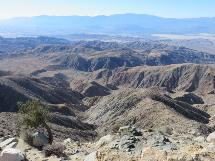 Panoramic view of the Coachella Valley from Keys View at Joshua Tree National Park