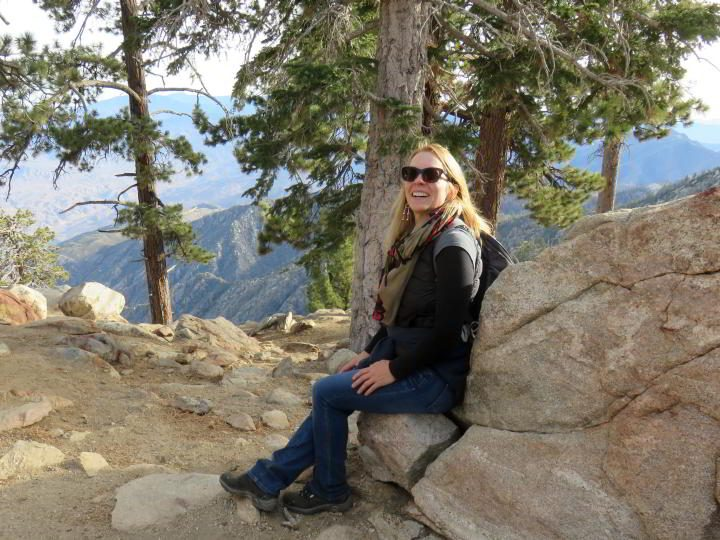 Modern nomad Susan Moore posing for a photo at Mt San Jacinto State Park