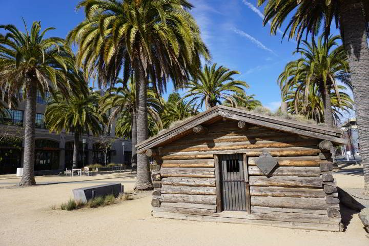 Jack London's cabin - Jack London Square in Oakland California