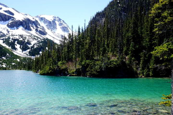 Pristine glacial fed lakes at Joffre Lakes hike - Whistler BC Canada