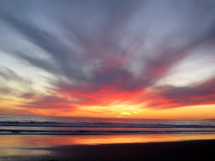 Nomad life can lead to spectacular sunsets every night in Carpinteria California