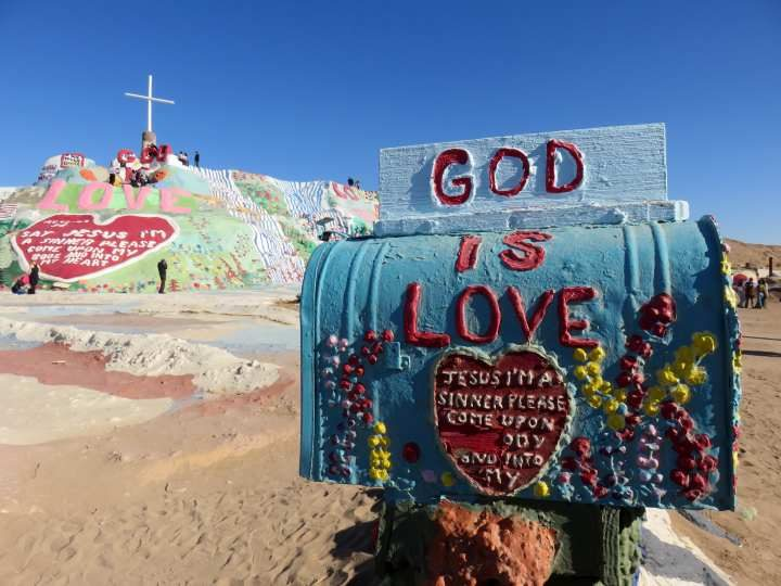 Colorful mailbox at Salvation Mountain near the Salton Sea