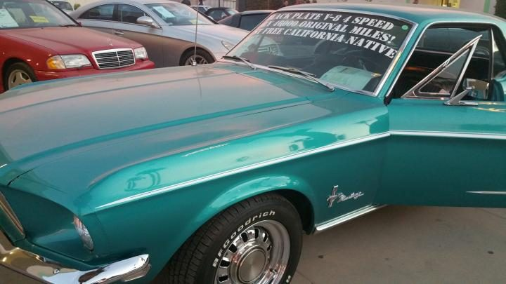 Classic 1960's model Ford Mustang at Classic Car Auctions in Palm Springs