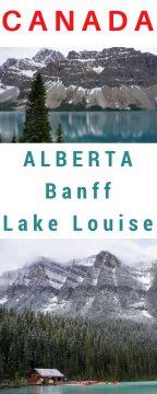 Moraine Lake and Lake Louise in Banff National Park Alberta Canada