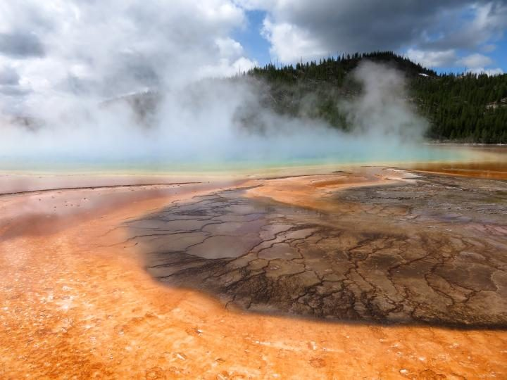 Grand Prismatic Spring is a sensational sight at Yellowstone National Park