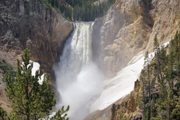 Visit Yellowstone Lower Falls at America's first National Park